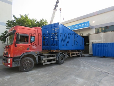 40HQ Containerized Block Ice Machine is Shipped to Latin America