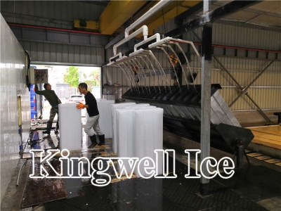 Kingwell 120 Tons block ice plant with lower power consumption