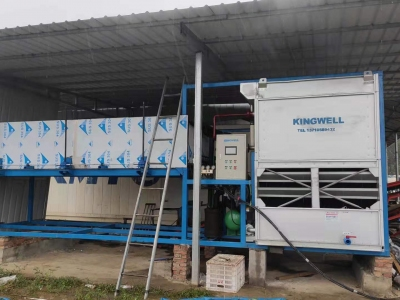 Kingwell 10 ton block ice plant with evaporative cooling way