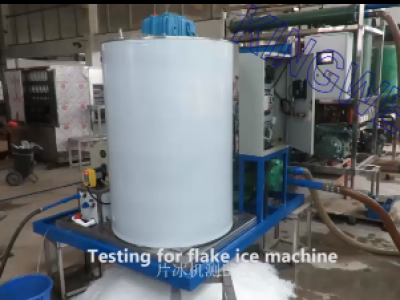 Video of flake ice machine KW-F5