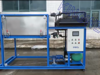 Video of direct cooling clear ice block machine 1ton/day (KW-TDB1)