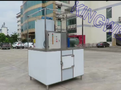 2.5Tons/day Flake ice machine with ice bin (KW-F2.5)