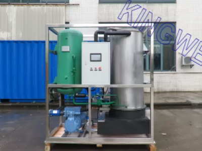 Video of 5tons/day tube ice machine with SUS304 evaporator outer (KW-T5)