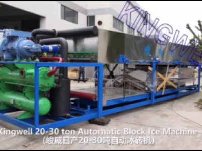 Video of 20tons/day direct cooling ice block machine (KW-DB20)