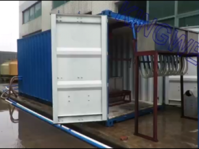 Video of Kingwell 5tons /day containerized block ice machine