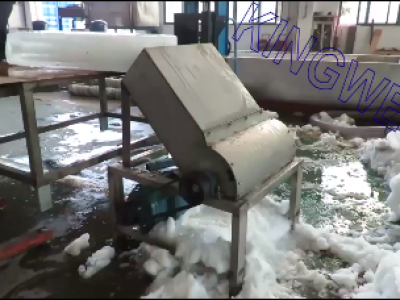 Snowed ice crushed machine with food grade 304# stainless steel