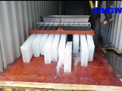 Videos of 12 tons containerized ice block machine