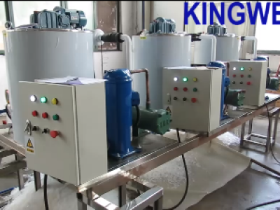 Video of 3 sets of KW-F1.5 flake ice machine