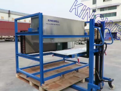 Video of air-cooling direct cooling ice block machine (KW-DB1)