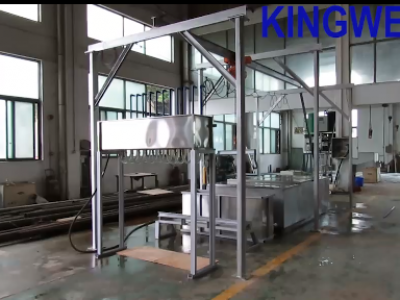 Video of KW-B5 ice block machine with crane system