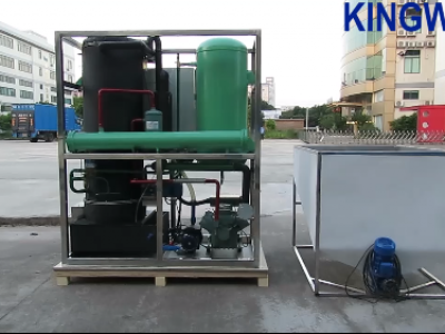Video of KW-T5 tube ice machine and semi-automatic packaging system