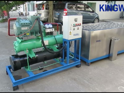 Video of KW-B3 salt water ice block machine