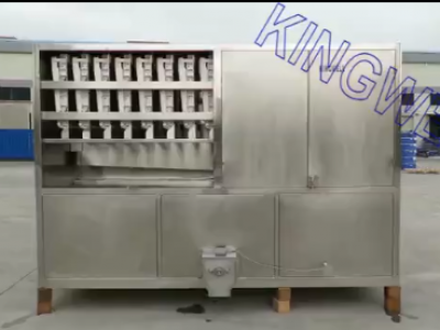 Video of KINGWELL 4 tons/day cube ice machine (KW-C4)