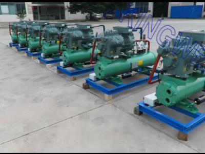 7 Sets of Bitzer refrigeration system of 5000m³ cold room and testing (KW-CR5000)